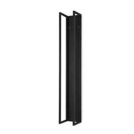 Kaminholzregal zur Wandmontage Eisen schwarz H160 x B25 x T25 cm -