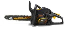 McCulloch 00096-67.669.36  Benzin-Kettensäge CS 390+ mit Nylon-Tasche, Kette, Handschuhe -
