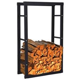 Zelsius - Kaminholzregal, Ständer für Kaminholz in verschiedenen Größen verfügbar ((H) 100 x (B) 40 x (T) 25 cm) -
